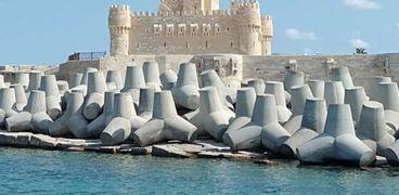 انتهاء 68% من مشروع حماية قلعة قايتباي بالإسكندرية