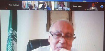 امين جامعة الدول العربية في اجتماعه
