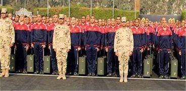 طلاب الكليات العسكرية المستجدون خلال حفل الالتحاق
