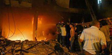 انفجار خزان مازوت في لبنان