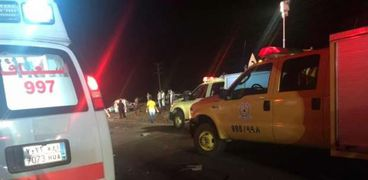 مصرع 7 أشخاص جراء حادث تصادم 3 سيارات وسط السعودية
