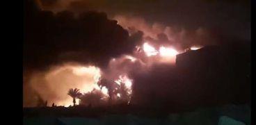 حريق مصنع قليوب