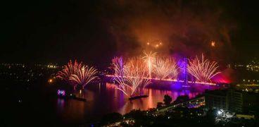 احتفالات رأس السنة بالقاهرة أمس