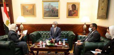 وزيرة الصحة تستقبل الوزير المفوض بالسفارة الرومانية