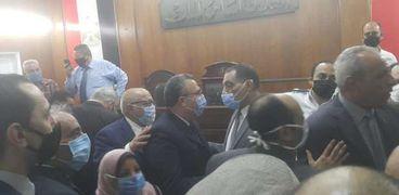 جلسة سابقة لمحاكمة محمامي بالمنصورة