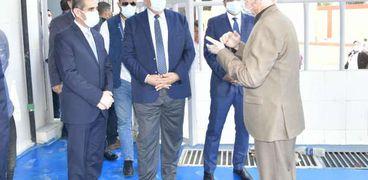 وزير الزراعة ومحافظ الغربية خلال افتتاح فرعي البنك الزراعي بسمنود