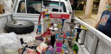 ضبط شيش بمقاهي كفر الشيخ
