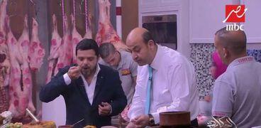 عمرو أديب ومحمد هنيدي