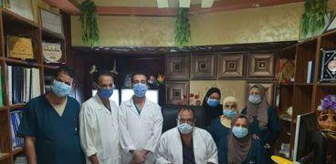 الفريق الطبى الذى أجرى الجراحة