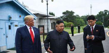 زعيم كوريا الشمالية مع الرئيس الأمريكي دونالد ترامب