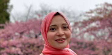 المذيعة المصرية في التليفزيون الياباني ريم أحمد