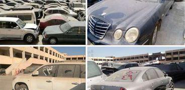 السيارات واردة من الخارج بساحة جمارك السيارات