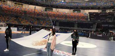استعدادات المتطوعين في ختام بطولة كأس العالم لليد