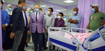 وكيل صحة الشرقية يوجه بالتشغيل التجريبي للعناية المركزة بمستشفي بلبيس