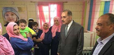 """""""نور الدين"""" يتفقد دار أيتام ومؤسسة إيواء و رعاية المكفوفين بكفر الشيخ"""