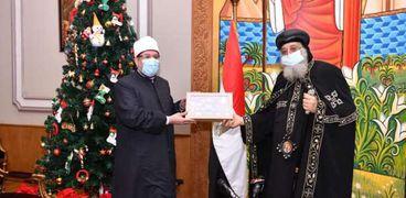 الدكتور محمد مختار جمعة وزير الأوقاف يكرم البابا تواضروس
