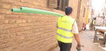 لتوفير حياة كريمة.. 540 وصلة مياه من الاورمان للأسر الاكثر احتياجًا بسوهاج