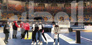 جانب من التحضيرات لحفل ختام مونديال اليد 2021