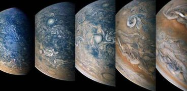 """سفينة الفضاء """"جونو"""" تلتقط صورا لعاصفة على """" المشتري"""""""