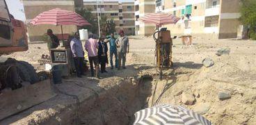 مشروعات الصرف الصحي بسفاجا