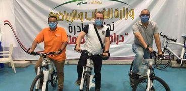 أعضاء هيئة تدريس تربية رياضية الهرم يشاركون في مبادرة دراجتك صحتك