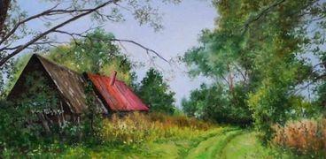 إحدى لوحات الفنان الروسي فلاديمير فاخروشيف