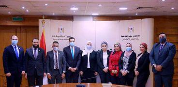 وفد تنسيقية شباب الأحزاب يبحث مع وزيرة التضامن جهود العمل المشترك