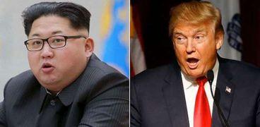 الرئيس الأمريكي دونالد ترامب ونظيره الكوري الشمالي