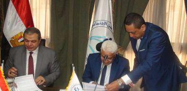 توقيع بروتوكول تعاون مع محمد سعفان وزير القوي العاملة