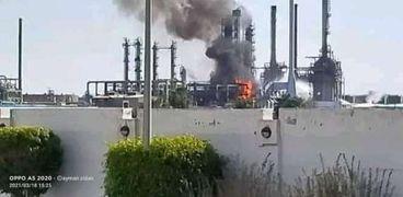 حريق في شركة العامرية للبترول غرب الإسكندرية