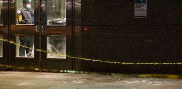 موقع حادث الطعن في مترو نيويورك