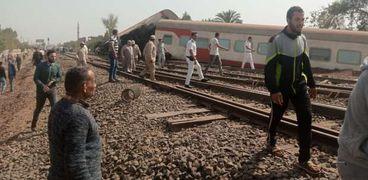 حادث قطار بنها بمحافظة القليوبية