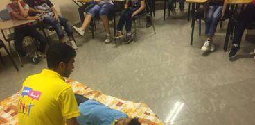 """مبادرة """"بينا مصر بكرة احلى  """" تعلم   اطفال دور الرعاية الاسعافات الاولية"""