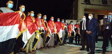 عودة العمال المصريين المختطفين
