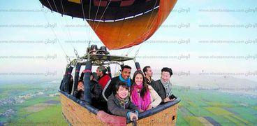 رحلات البالون الطائر فى الاقصر