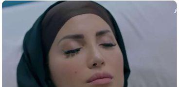 نسرين طافش في مشهد من مسلسل المداح