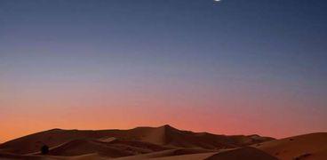 هلال لأحد الشهور القمرية- صورة أرشيفية