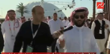 عمرو أديب مع تركي آل الشيخ