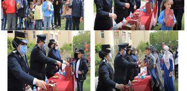 ضباط الشرطة يزوروندور الأيتام وذوى الإحتياجات الخاصة فى الجيزة والإسكندرية