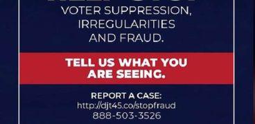 دعوات لوقف سرقة الانتخابات الأمريكية