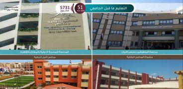 أبرز المشروعات في قطاع «التعليم قبل الجامعي»