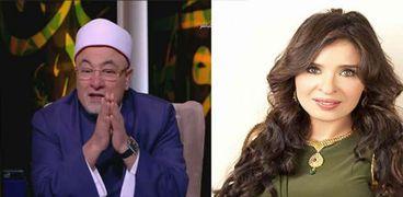 دينا والشيخ خالد الجندي