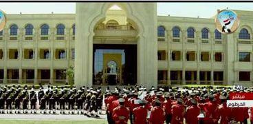 مراسم استقبال الرئيس في الخرطوم