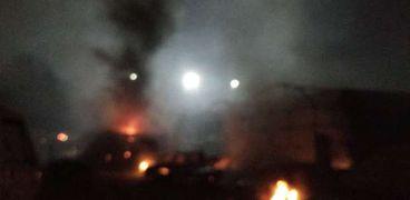حريق وزارة الزراعة