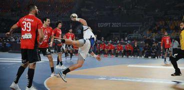 صورة أرشيفية من المباراة السابقة لمنتخب مصر لكرة اليد
