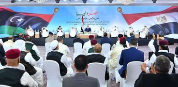 اجتماع الرئيس بالقبائل الليبية