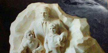 تمثال مبارك وحفيديه