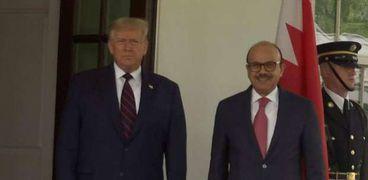 ترامب ووزير الخارجية البحرينى