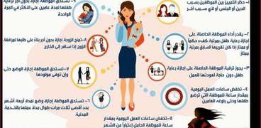 9 حقوق للمرأة في قانون  الخدمة المدنية