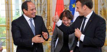 الرئيس السيسي ونظيره الفرنسي